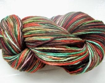 Destash Merino Manos del Uruguay green brown red 100g
