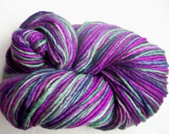 Destash Merino Manos del Uruguay purple green 100g