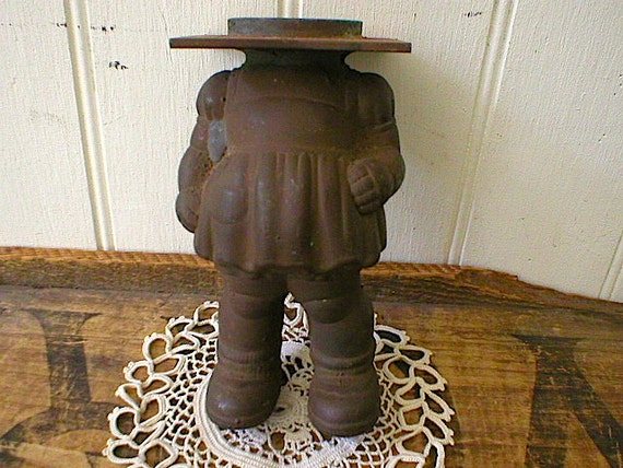 Industrial mold cast iron copper, doll toy headless torso - marked Sun Rubber Co. Akron Ohio - 1940s 50s