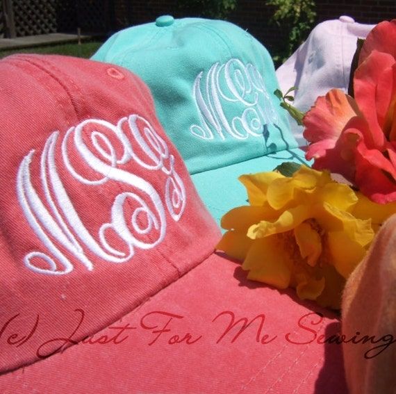 Custom Monogrammed Baseball Hat - Personalized Bridesmaids Gifts