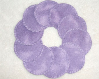 Lavender Two-Tone Make-up Remover Pads Washable Reusable Cotton Rounds