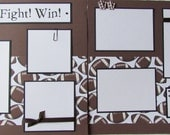 GO - FIGHT - WIN 12x12 Premade Scrapbook Pages FooTBaLL