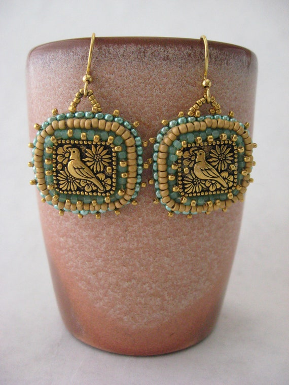 Bukowski's Bluebird Earrings
