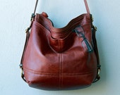 HOBO PACK 'three in one' - mid size - leather backpack - with two outside pockets - choose your leather  and interior