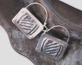 Small Ancient style sterling silver  hoops