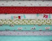 SALE Cherry Christmas Fabric by Aneela Hoey for Moda Fabrics-  Yard Bundle, 7 total