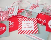 Modern Christmas Square Gift Tags 12 pack