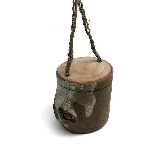 Twig Box - Natural Rustic Original Wooden Pill - Trinket - Necklace by Tanja Sova