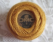 DMC 783 Medium Topaz  Pearl / Perle Cotton Thread Ball Size 5