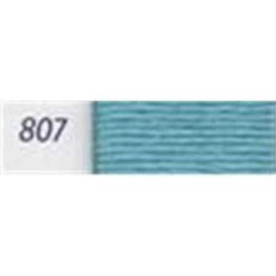 DMC 807 Peacock Blue Perle Cotton Thread Ball Size 8
