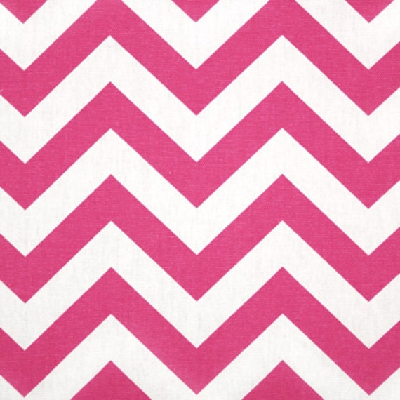 PRICE REDUCTION! SALE!!! Pink Chevron Window Valance Made in Hot Candy Pink and White Zig Zag Fabric Premier Prints
