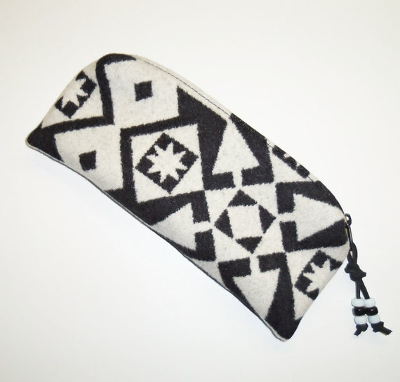 Pendleton Wool Pencil Case Zippered Pouch Accessory Native American Inspired