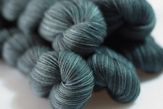 Pendle 4ply in Slate (dark) - hand dyed 4ply superwash merino sock yarn - UK/British Seller