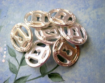SALE-50 Metal buttons silver color  shank buttons15mm