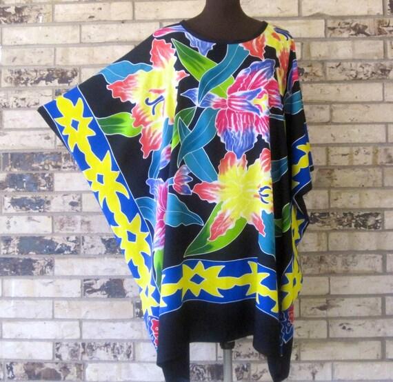 Plus Size Tropical Premium Tunic