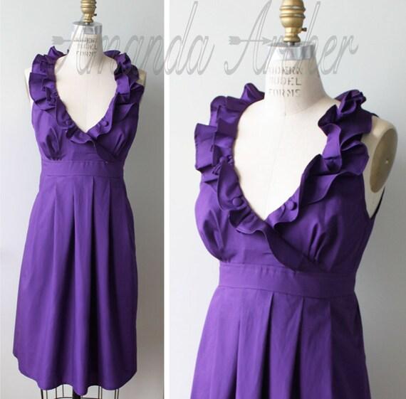 RESERVED for GRACIE violet purple dress, mid-October shipment