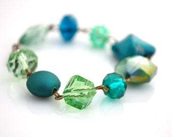 Teal and Green Bracelet