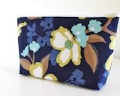 The Danielle Cosmetic Bag - Dogwood Bloom print