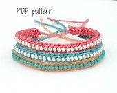 PDF Pattern - Crocheted Beaded Friendship Bracelet