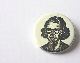 Flannery O'Connor Author Button