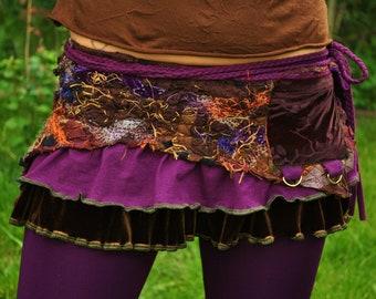 InterSteLLar Weave pocKet WraP Skirt, Custom for you  FesTiVaL ClothinG, Pixie SkirT