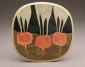 Beets Underground- small square plate-Ruchika Madan