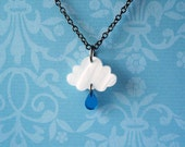 Rainy Day Necklace in White