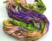 Silk Sari ribbon rare called English Garden