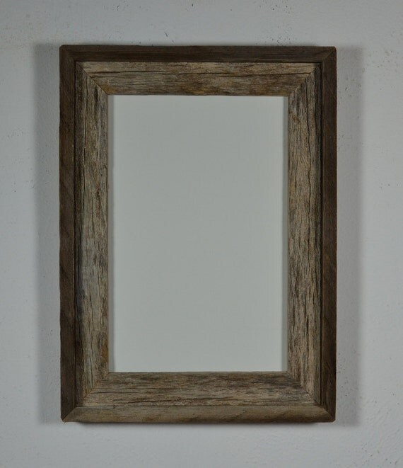 Reclaimed  barnwood picture 8x12 frame beautiful natural patina