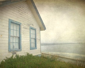 Beach House - Choose Photo or Greeting Cards, scenic ocean, Laundry, Fresh Air, Photograph or Cards