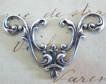 Silver Filigree Finding 2969