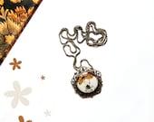 30% off SALE Girl necklace - Alice in wonderland. Wearable art. Illustration jewelry.