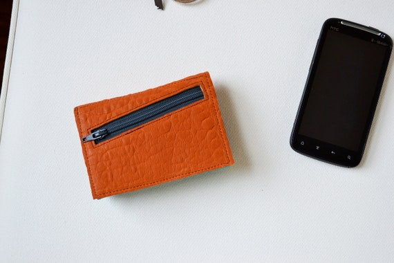 The Small Francis Wallet in Pumpkin Orange