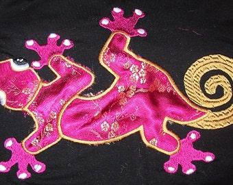 Instant Download Lizard Applique Letzrock Machine Embroidery Designs...2363