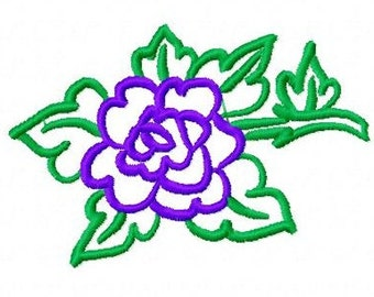Rose Machine Embroidery Design...2106