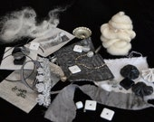 Mixed Media Art Quilt  Kit -- Black and White