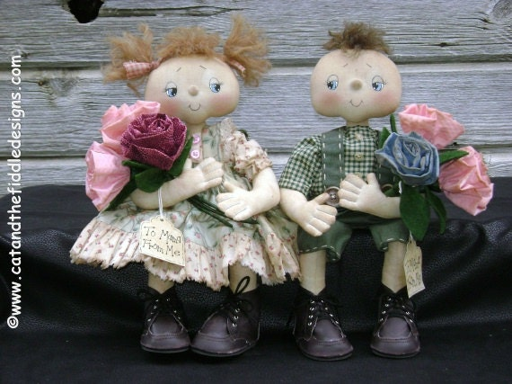 CF253 Roses for Mama- PDF ePattern Cloth Doll Pattern Report Card