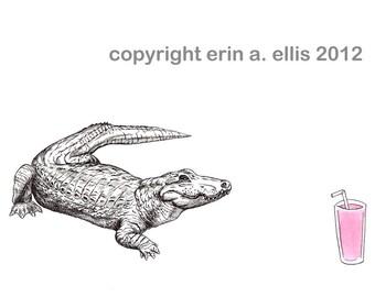 Alligator 5x7 Print