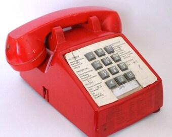 Vintage Red Phone / telephone