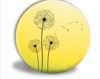 Dandelions Mirror Mirror, Pocket Mirror, Spring Dandelions