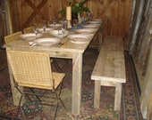 """Driftwood Dining Room Table (104""""L x 34""""W x 29""""H)"""