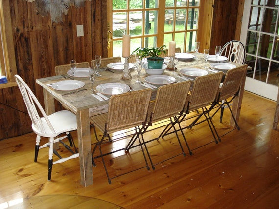 Items similar to driftwood dining room table with your for Dining room tables etsy