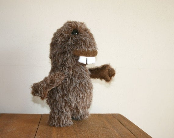 Stuffed BigFoot Cryptid Monster Plush, READY TO SHIP