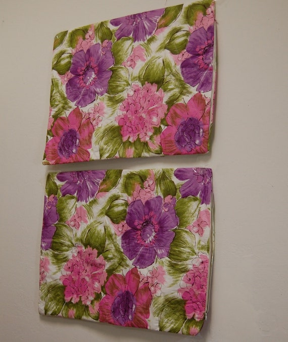 Quilted Pillow Cases Unused Vintage 1960s Pair