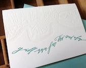 letterpress Betsy Dunlap calligraphy sympathy map card