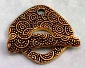 TierraCast Large Spiral Toggle Clasp, Antique Gold TG8
