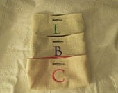 Not Your Usual Wine Bag Personalized Burlap Solid Colors, Set of 3