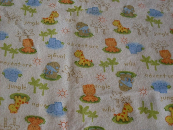 B2-white jungle baby flannel Cotton 18 inches