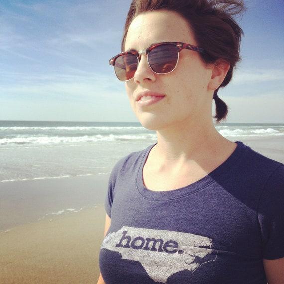 "Women's- Navy Blue- North Carolina ""Home."" T-Shirt-"