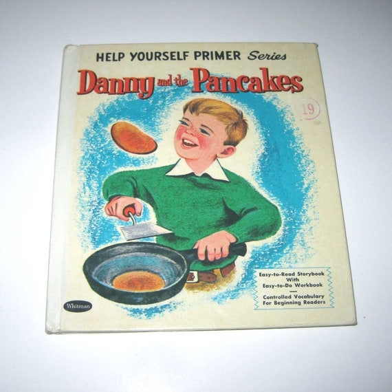 Danny and the Pancakes Vintage 1960s Children's Primer Book by Whitman